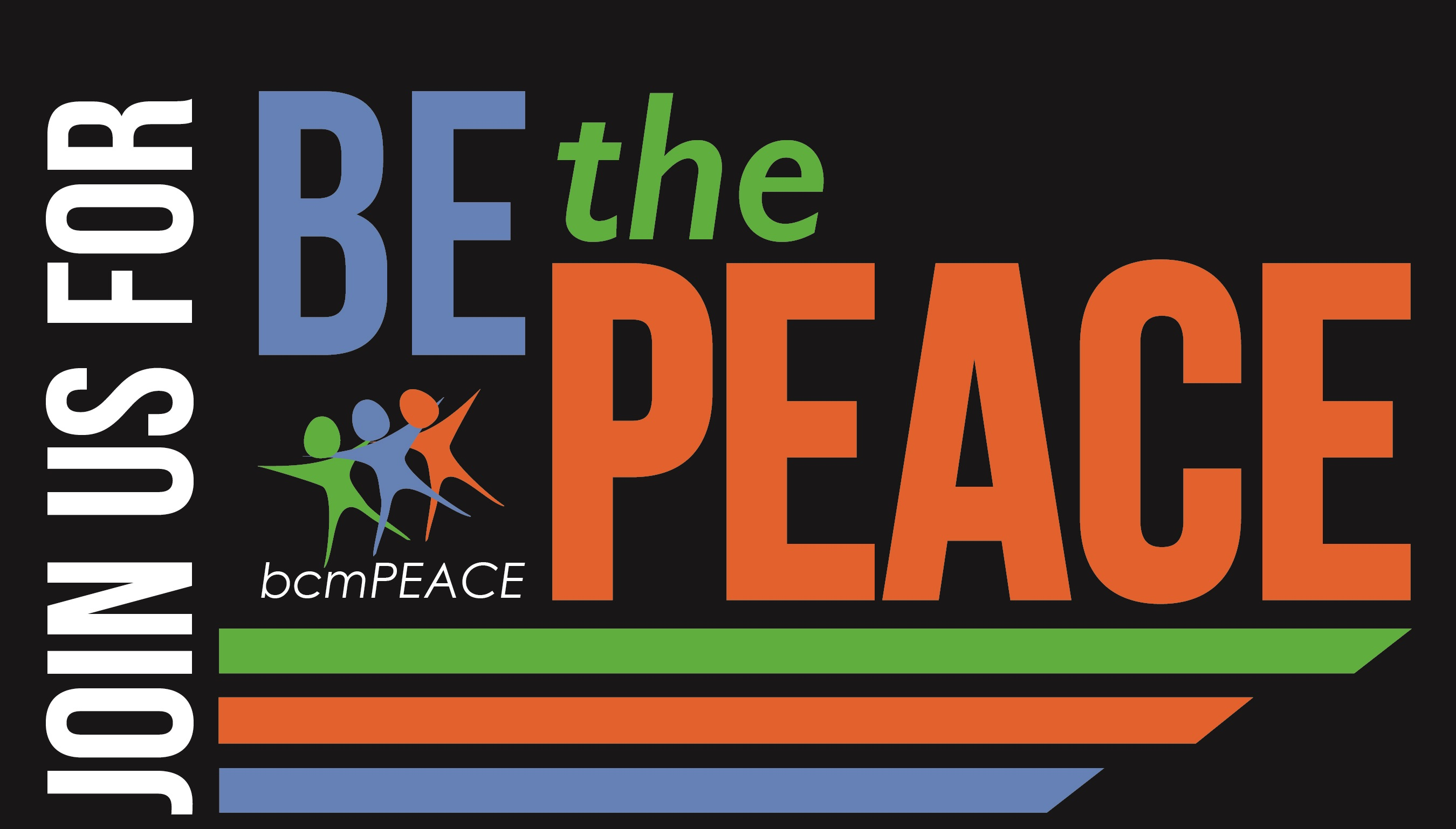 BE the PEACE Invite LOGO BLACK no date